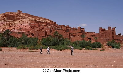 Ait Benhaddou, Morocco - Ait Benhaddou - fortified city on...