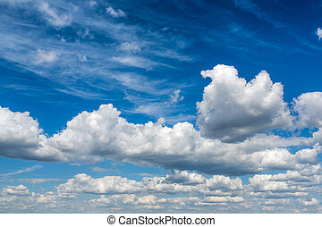 Cloudy sky - The cloudy sky background