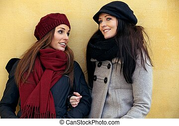 Two Friends in Their Winter Clothing