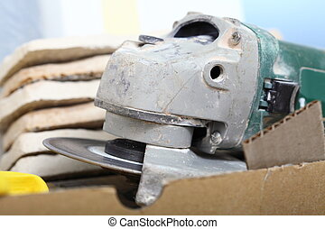 construction tool angle grinder for cutting tile