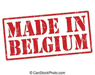 Made in Belgium stamp - Made in Belgium grunge rubber stamp...