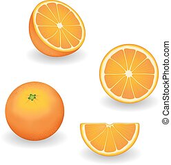 Oranges, Fresh and Natural - Fresh, natural oranges, four...