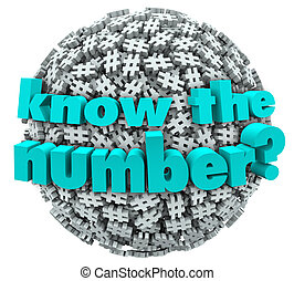 Know the Number Question Pound Symbol Hashtag Sphere