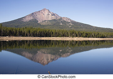 Four Mile Lake Mount McLoughlin Klamath County Oregon...