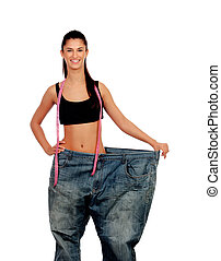 Objective achieved. Woman at her ideal weight
