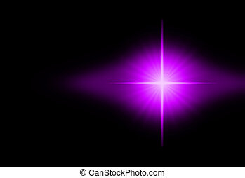 Starburst in Space - Outer space star and chaos rays in the...