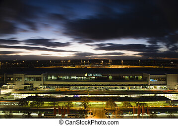 Melbourne airport at night