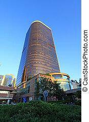 city scenes of beijing financial center district