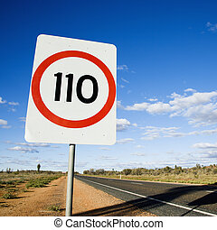 Australia speed limit sign - Speed limit kilometer per hour...