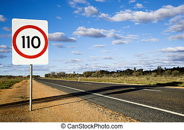 Australia road sign - Speed limit kilometer per hour road...