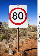 Australia speed limit sign - Australian kilometer per hour...