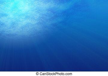 Underwater Scene - Illustration of Underwater Scene with sun...