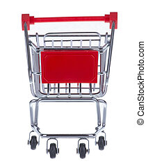 Shopping Cart - A Shopping Cart Isolated On White