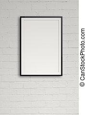 空, 現代, 風格, 框架, 作品, 牆, 概念