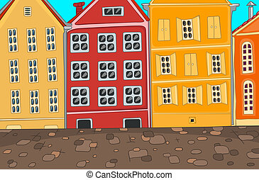 City Cartoon Vector Illustration EPS 10