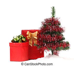 baum, Weihnachten, Geschenke