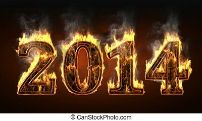 2014 of fire with smoke