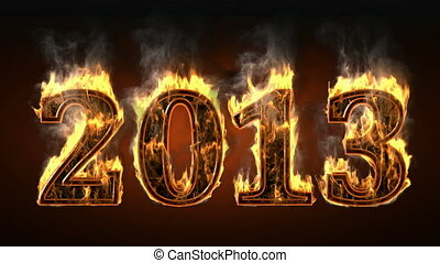 2013 of fire with smoke