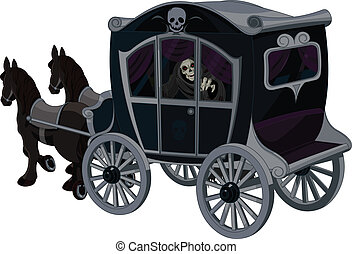 Halloween Carriage - Illustration of Halloween carriage