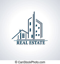 Modern icon for Real estate business design Vector...