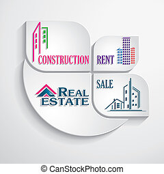 Modern concept for real estate business. Design template....