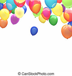 3d ballons - 3d image of flying ballons