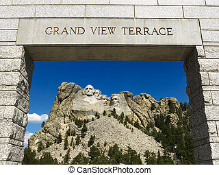 Mount Rushmore entrance - Mount Rushmore National Memorial...