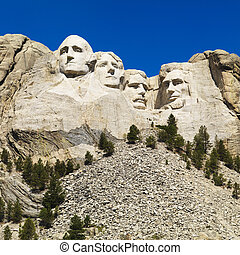 Mount Rushmore. - Mount Rushmore National Memorial with...
