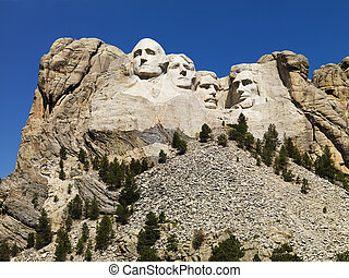 Mount Rushmore - Mount Rushmore National Memorial with...