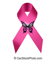 Breast cancer icon - illustration of breast cancer icon