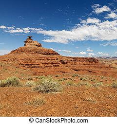 Desert landscape. - Scenic remote desert landscape with mesa...