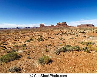 Desert landscape. - Scenic desert landforms in distance of...