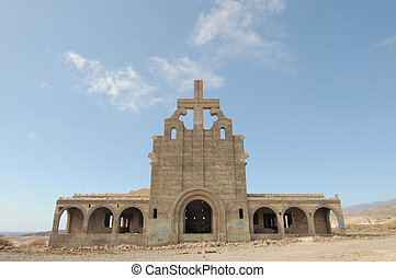 An Old Abandoned Church on a Military Base