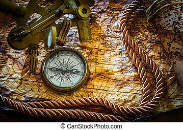 vintage marine still life - vintage still life with...
