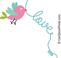 Love Bird - Scalable vectorial image representing a love...