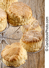 scone on a cake stand - home made scone on a cake stand