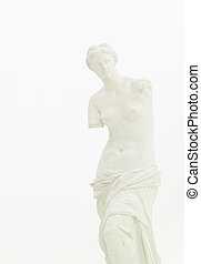 Venus de Milo, fine art statue - cropped view of replica of...