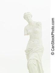 Venus de Milo, fine art statue - cropped view of replica of...