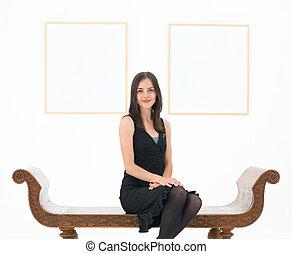 beautiful art gallery owner