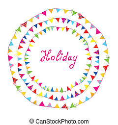 Bunting flags holiday frame for children cartoon