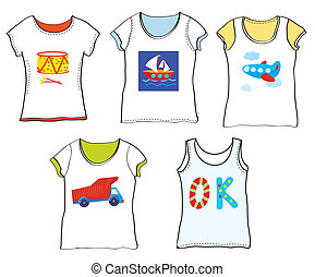T-shirts design for kids with toys cartoon