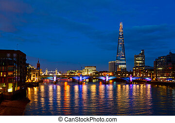 Southwark Bridge in London - London cityscape with Southwark...