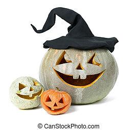 vacanza, intagliato, zucca, Halloween