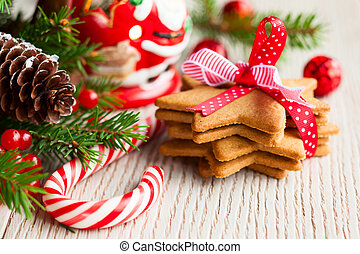 Christmas cookies - Christmas cookies with festive...