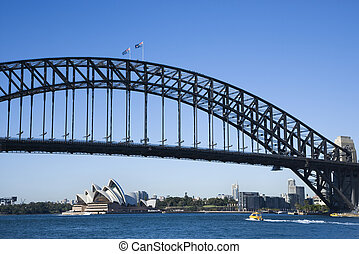 Bridge, Sydney Australia. - Sydney Harbour Bridge with view...
