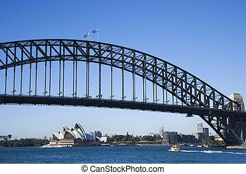 Bridge, Sydney Australia. - Sydney Harbour Bridge with view...