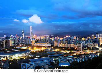 Shenzhen - Chinas Shenzhen city in the night