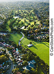 Golf course, Australia. - Aerial view of Ryde Parramatta...