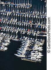 Boats at dock.