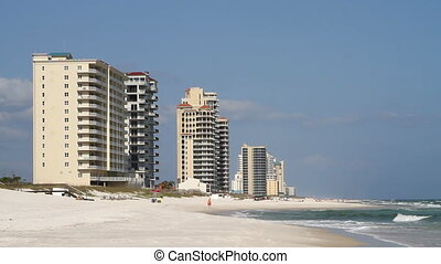 Perdido Key Beach - Condominiums line Perdido Key Beach,...